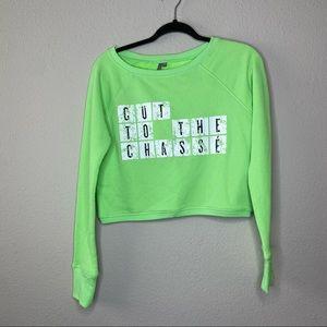 SWEATY BETTY Green Cut To The Chasse Sweatshirt XS